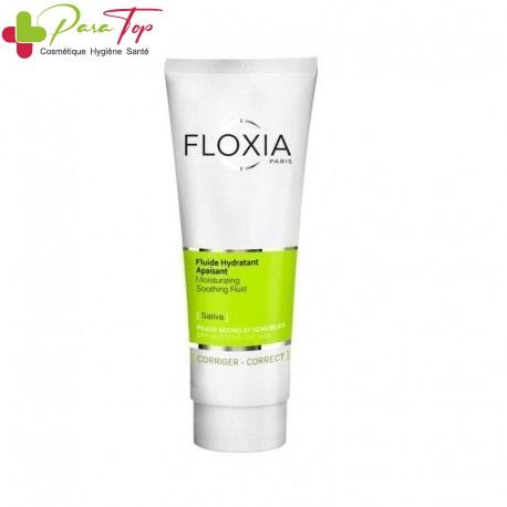 FLOXIA Fluide Hydratant Apaisant Peaux Seches et Sensibles, 125 ml