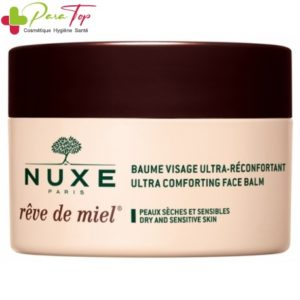 NUXE Rêve de Miel Baume Visage Ultra-Réconfortant, 50 ml