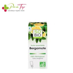 SO'BIO Huile essentielle bergamote Bio, 10 mL