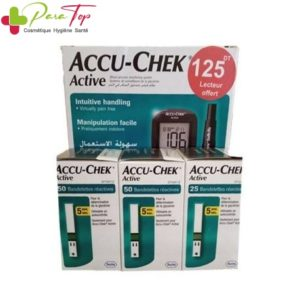 ACCU-CHEK Active Pack: 1 appareil + 125 bandelettes + 1 softclix