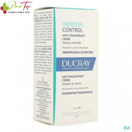 Ducray Hidrosis Control Crème Anti-Transpirante Mains et Pieds 50 ml
