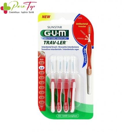 GUM Brossette TravLer Cylindrique 0,8 mm (1314)