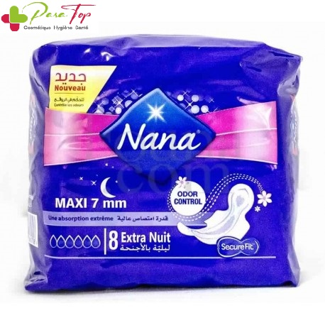 NANA serviette maxi extra nuit 8 pièces