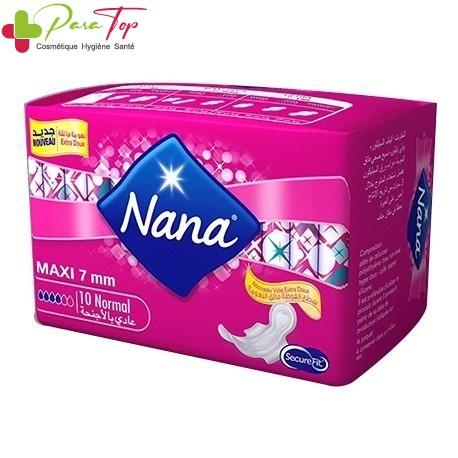 NANA serviette maxi normal clip 10 pièces