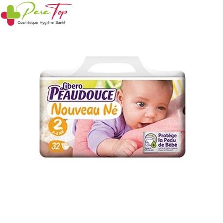 Peaudouce Confort 3-6 Kg Nouveau Né Taille 2 , 32 unités