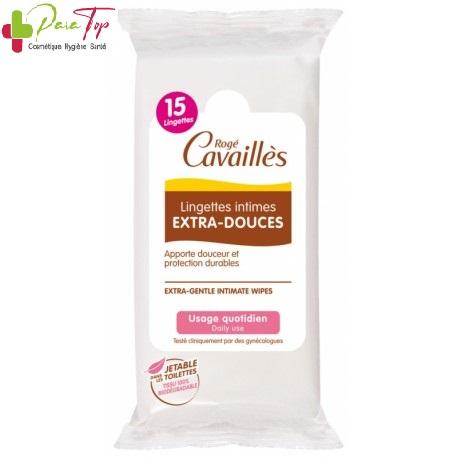 ROGE CAVAILLES LINGETTES INTIMES 15 pcs
