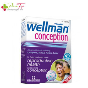 Vitabiotics Wellman Conception, 30 Comprimés